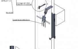Chantier Beerse. Solution particulière pour ancrage béton architectonique