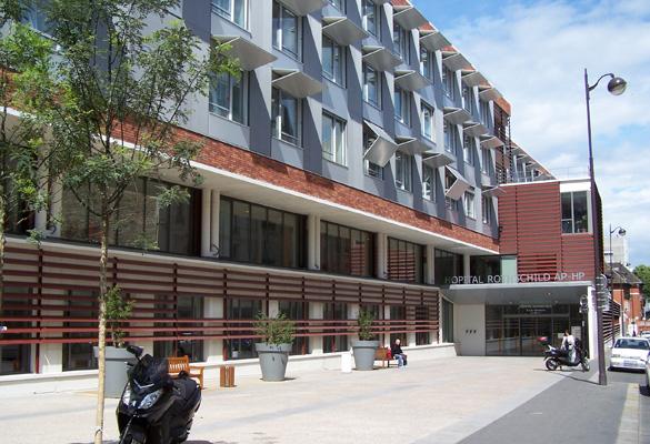 Hôpital Rothschild - Paris Rénovation de façade en briques