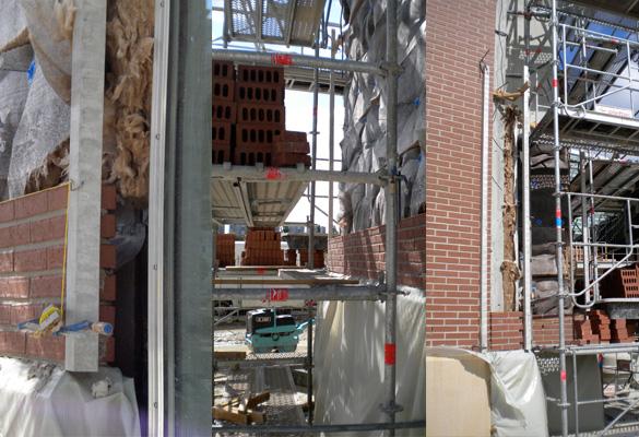 Le Millénaire - Aubervilliers Habillage de façades en briques