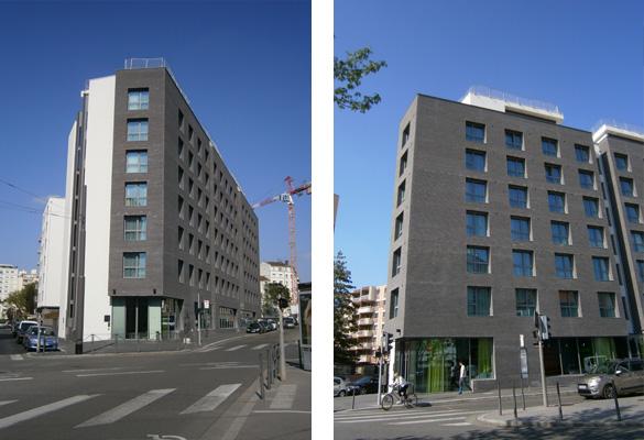 Mama Shelter - Lyon Consoles et cornières de maçonnerie pour parements de façades en briques