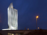 MG Tower à Gand. Façade en pierres naturelles