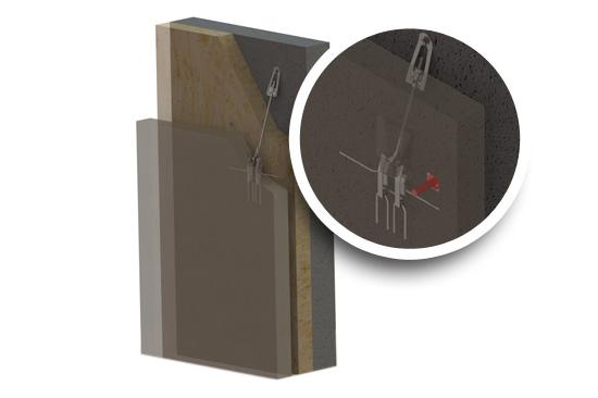 suspente fixi 3D, fixation panneaux préfabriqués